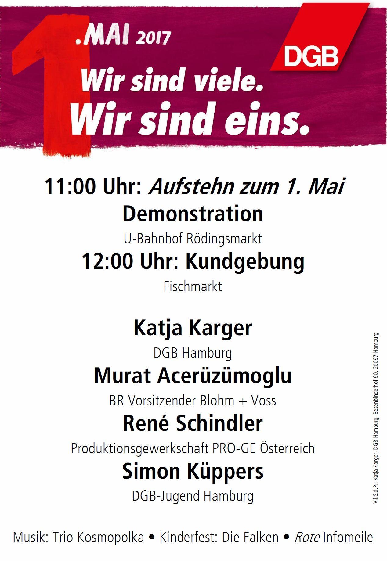 Maikundgebung Hamburg