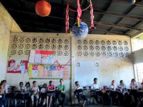 Klassenraum in der Escuela San Jerónimo