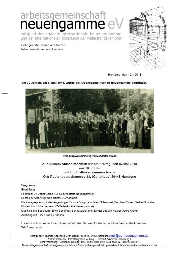 70 Jahre Arbeitsgemeinschaft Neuengamme