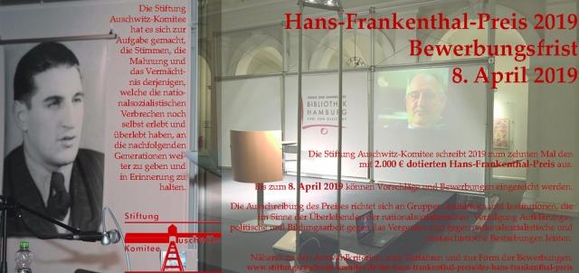 Stiftung Auschwitz-Komitee schreibt Hans-Frankenthal-Preis 2019 aus