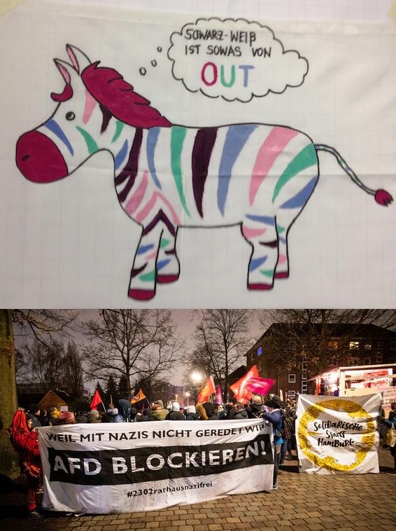 """""""Vielfalt statt Einfalt"""" - """"Unsere Wahl heißt Antifaschismus!"""""""