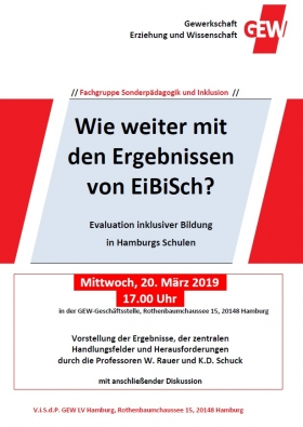 Wie weiter mit den Ergebnissen von EiBiSch?