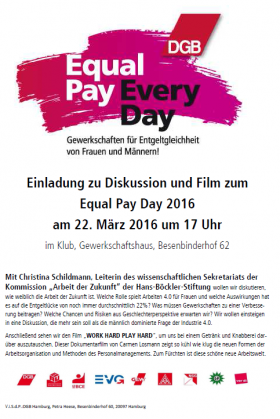 Equal Pay Day Veranstaltung