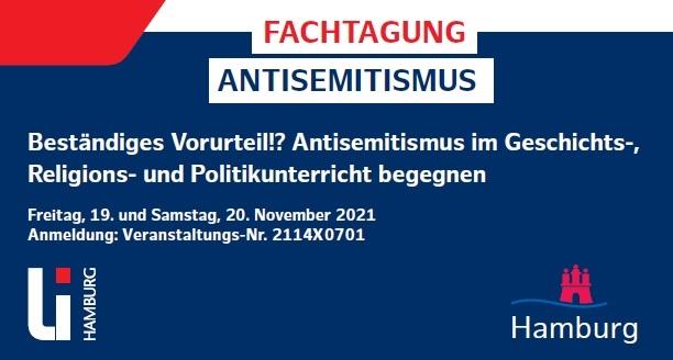 Fachtagung Antisemitismus: Beständiges Vorurteil!? Antisemitismus im Geschichts-, Religions- und Politikunterricht begegnen