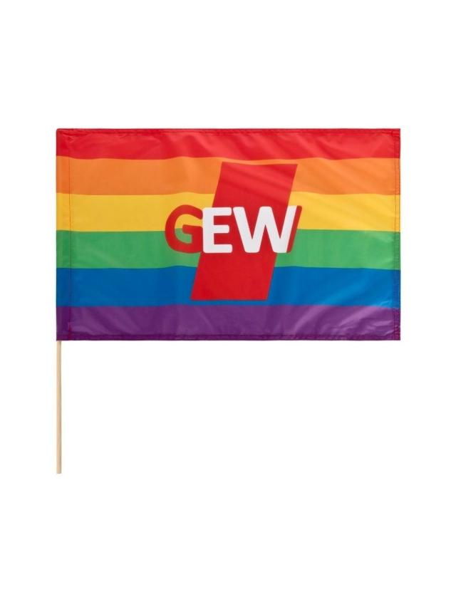 Foto: GEW Regenbogenfahne (im GEW-Shop erhältlich)