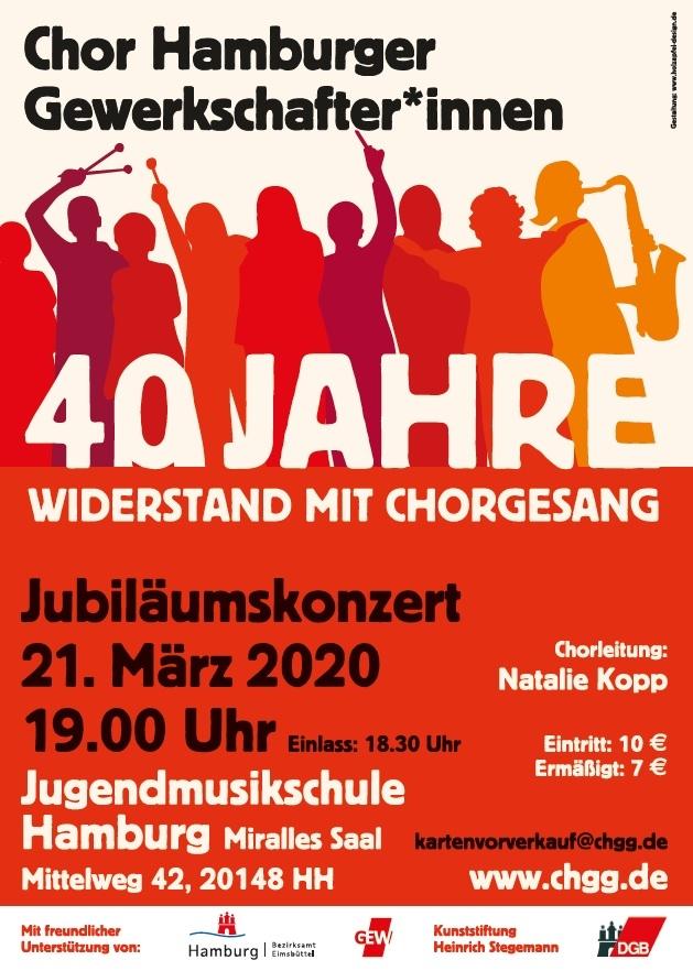 Jubiläumskonzert Chor Hamburger Gewerkschafter*innen