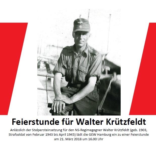 Feierstunde für Walter Krützfeldt