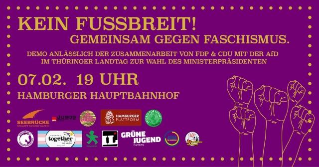 Kein Fußbreit - gemeinsam gegen Faschismus