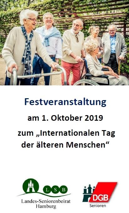 """Festveranstaltung am 1. Oktober 2019 zum """"Internationalen Tag der älteren Menschen"""""""