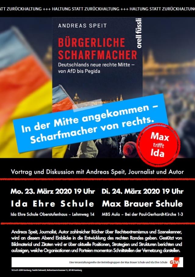 Eine Veranstaltungsreihe der Betriebsgruppen der Max Brauer Schule und Ida Ehre Schule am 23. und 24. März