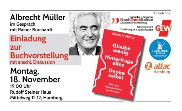 Buchvorstellung & Diskussion mit Albrecht Müller