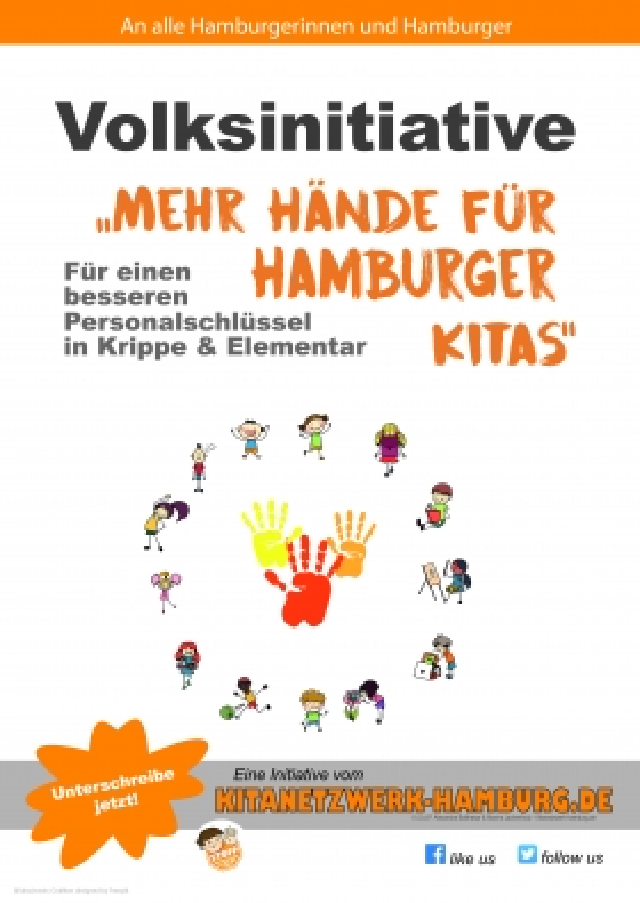 """Volksinitiative """"Mehr Hände für Hamburgs Kitas"""""""