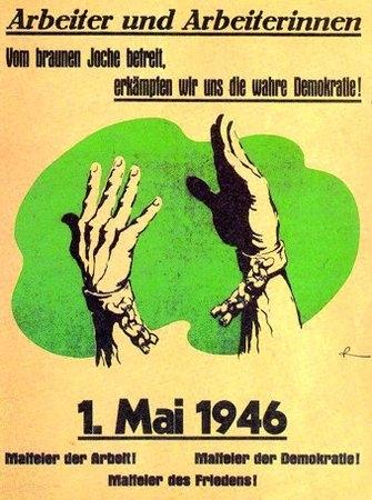 Plakat 1. Mai 1946