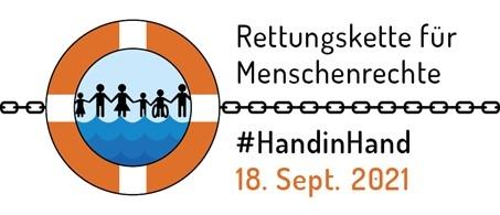 Macht mit bei der Rettungskette für Menschenrechte!