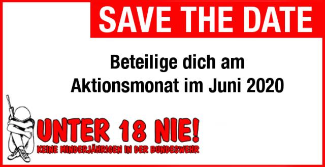 """""""Keine Minderjährigen in der Bundeswehr!"""""""