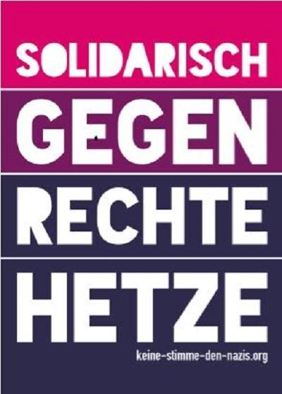 Gemeinsam solidarisch in Hamburg rechter Hetze entgegentreten!