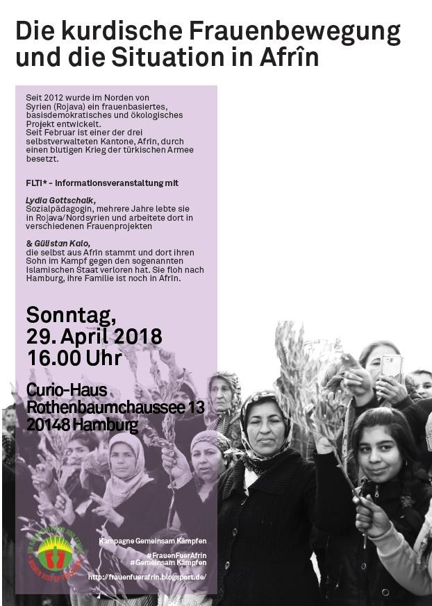 Die kurdische Frauenbewegung und die Situation in Afrîn/Nordsyrien