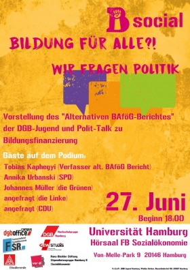 DGB-Jugend Veranstaltung Bildungsfinanzierung