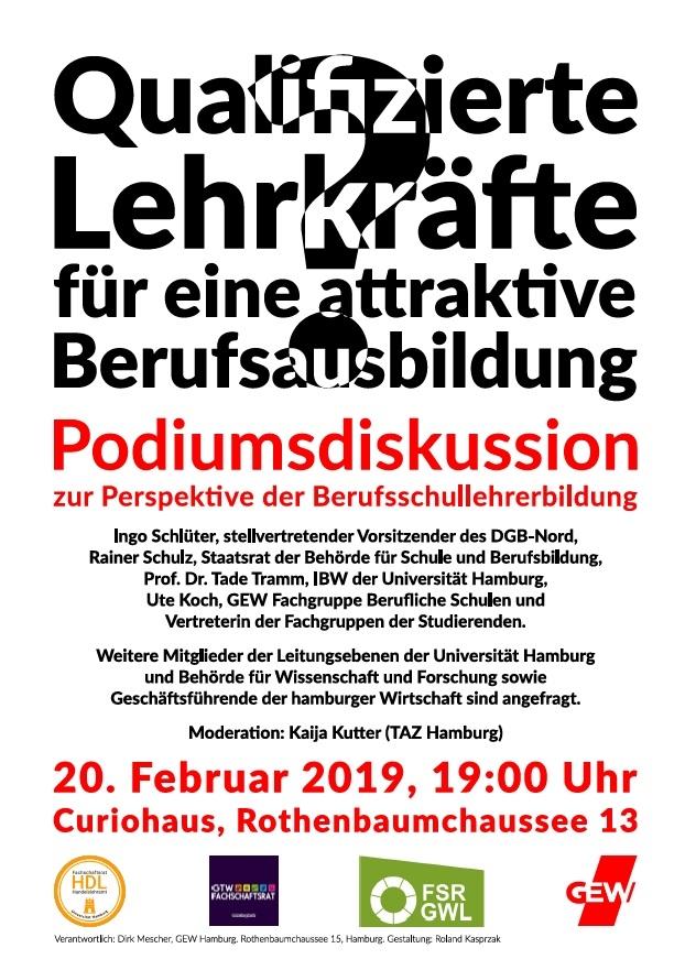 20. Februar 2019, 19:00 Uhr, Curiohaus, Rothenbaumchaussee 15