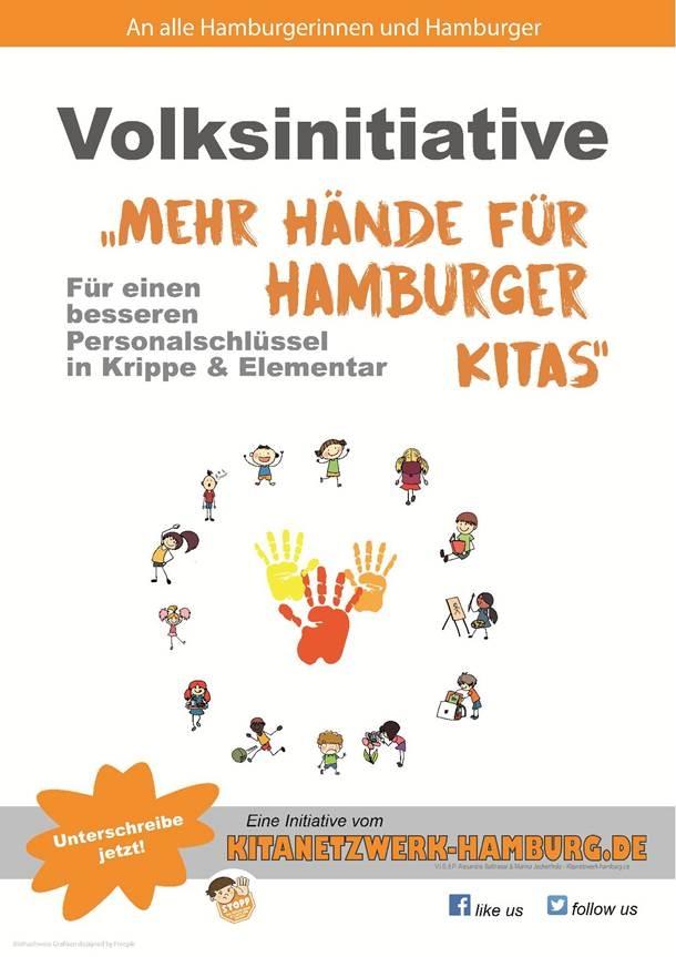 """Volksinitiative """"Mehr Hände für Hamburger Kitas"""""""
