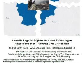Aktuelle Lage in Afghanistan und Erfahrungen Abgeschobener
