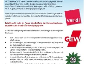Änderungen im Hamburgischen Beihilferecht