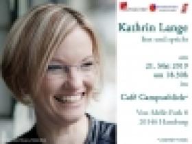Kathrin Lange liest und spricht am 21.5 um 18:30