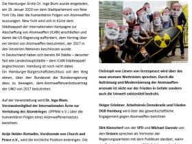Verantwortung übernehmen – Hamburg für das Atomwaffenverbot