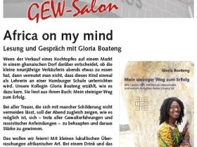 Africa on my mind – Lesung und Gespräch mit Gloria Boateng