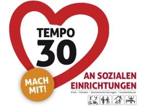 Tempo 30 an sozialen Einrichtungen