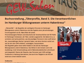 """Buchvorstellung """"Täterprofile, Band 3. Die Verantwortlichen im Hamburger Bildungswesen unterm Hakenkreuz"""""""